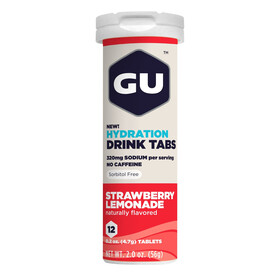 GU Energy Brew Hydration Drink Tabs Strawberry Lemonade 12 Stück